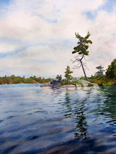 Artist: Debbie Homewood's, title: Canadian Shield Sculpture, 2008, Watercolor