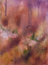 Artist: Debbie Homewood's, title: Forest Floor, 2011, Watercolor