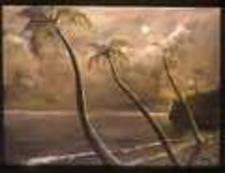 Kevin Wakefield; Before The Storm , 2002, Original Painting Oil, 60 x 48 inches. Artwork description: 241  Sepia toned beach scene ...