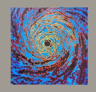 Kevin Wakefield; Colorstorm, 2010, Original Painting Oil, 60 x 60 inches. Artwork description: 241  A hurricane depicted with sattelite digital coloration. ...