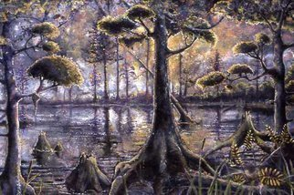 Kevin Wakefield; Southern Swamp, 2002, Original Painting Oil, 72 x 48 inches. Artwork description: 241   great texture added ...