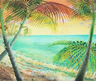 Kevin Wakefield; Sunrise On Coconut Beach, 2013, Original Painting Oil, 24 x 20 inches.