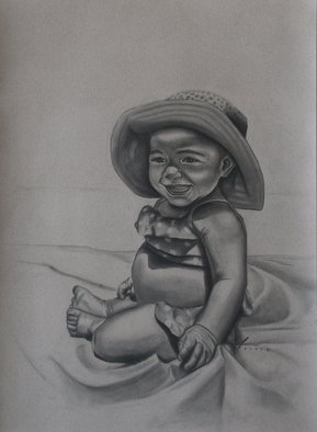 Kyle Foster, Sophie, 2008, Original Drawing Charcoal,    inches