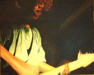 Ken Hovren; 7 Seconds 84, 2009, Original Painting Acrylic, 24 x 17 inches. Artwork description: 241 I hope to capture the energy of guitarist Steven Youth of 7 Seconds playing. Fenders Ball Room, Long Beach, CA 1984.  ...