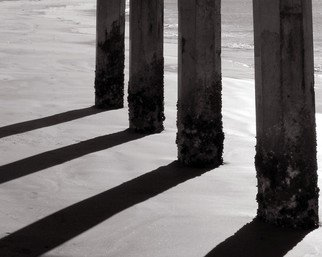 Greg Spohn;  Pier Pilings, 2006, Original Photography Black and White, 10 x 8 inches.