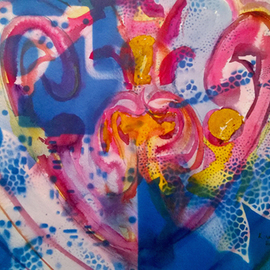 Kimmie Hamm, , , Original Mixed Media, size_width{Abstract_Heart-1476667932.jpg} X 24 inches