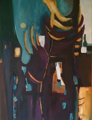 Kimmie Hamm; Organic City, 2014, Original Painting Acrylic, 18 x 24 inches. Artwork description: 241  city landscape with abstract shapes ...
