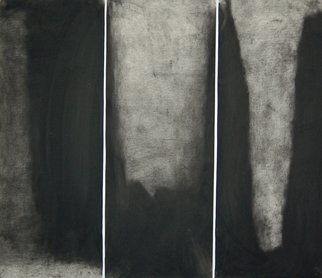 Douglas A. Kinsey; Waking Into The Desert  D..., 2011, Original Drawing Charcoal, 48 x 42 inches. Artwork description: 241  triptych                                                                                                                              ...