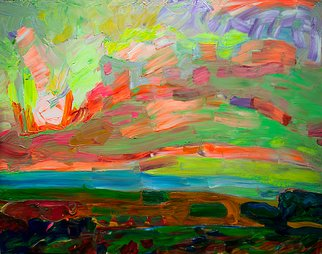 Hennadii Fisun; Spring Steppe, 2015, Original Painting Acrylic, 60 x 80 cm. Artwork description: 241  Spring steppe with incredible colors, sky and space, life and majesty ...