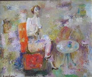 Radish Tordia; Woman In Red Armchair, 2012, Original Painting Oil, 50 x 60 cm.