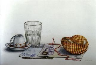 Thomai Kontou; Expectations Letters, 2003, Original Watercolor, 48 x 36 cm. Artwork description: 241  From the unit