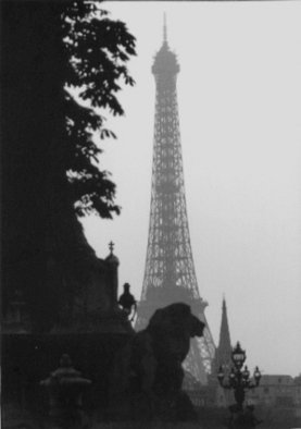 Wojtek Korsak; Eiffel Tour Paris, 1998, Original Photography Black and White, 50 x 40 cm. Artwork description: 241  This photo was use on poster of my exhibition on Eiffel Tower in 2002, on first floor, during 6 month. ...