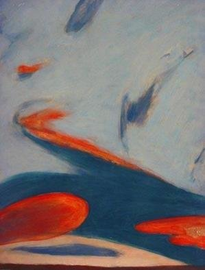 Tom Irizarry Studio; Calm Soar, 2004, Original Painting Oil, 9 x 12 inches. Artwork description: 241 oil on panel, cinnabar, azurite, cremintz white...