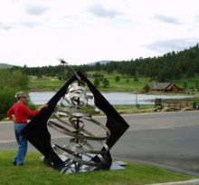 Artist: Ivan Kosta's, title: Evergreen, 2009, Sculpture Steel