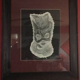 Kristin  Garrow, , , Original Drawing Graphite, size_width{spirit_of_catwoman-1541361699.jpg} X 24 inches