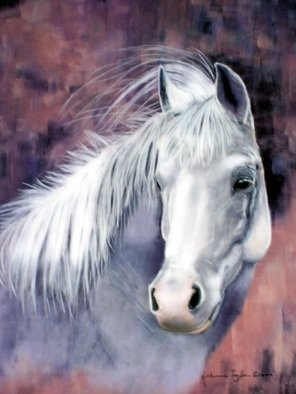Katherine Taylorgreen; Evening Smoke, 2008, Original Pastel, 16 x 20 inches. Artwork description: 241  My own Arabian gelding, Smoke, painted in pastels. ...