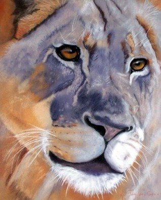 Katherine Taylorgreen; Out Of Africa, 2006, Original Pastel, 11 x 14 inches. Artwork description: 241  Close cropped portrait of a regal lioness ...