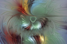 Artist: Karin Kuhlmann's, title: Enchanting Flower Bloom, 2003, Digital Art
