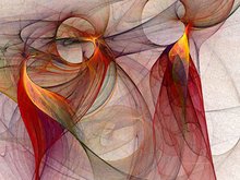 Artist: Karin Kuhlmann's, title: Winged Fine Art Print , 2003, Digital Art