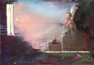 Doorov Suiorkul; Fly Away Nightingale, 2013, Original Painting Oil, 100 x 70 cm.