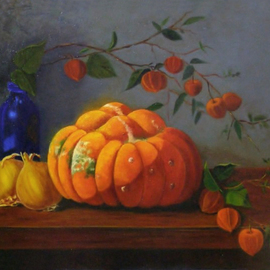 Lin La Mer, , , Original Painting Oil, size_width{Turbins_and_Lanterns-1295490089.jpg} X 14 inches