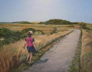 Christine Montague; The Walk, 2006, Original Painting Oil, 60 x 48 inches. Artwork description: 241 This figurative landscape or scenic figurative oil painting of a child walking a bath to the ocean in Prince Edward Island is by Christine Montague. The path can also represent the childhood one - sunny, pleasant but a winding turn approaching ahead as the journey progresses. Follow a ...