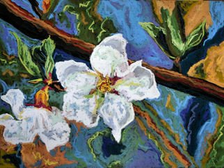 Mary Jane Erard; White Flowers III, 2009, Original Pastel, 23 x 28 inches. Artwork description: 241  White flowers with blues and greens.  Gorgeous color! Painted on textured board.Framed. Now on display at Artist Haven Gallery in Florida ( www. artistshavengallery. comAlso see