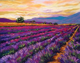Mary Jane Erard; Mountain Lavender, 2017, Original Pastel, 18 x 24 inches. Artwork description: 241 Pastel on Board.  Framed...