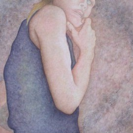 Peggy Thomas Cacalano, Self Portrait of Younger Pa..., 2009, Original Printmaking Giclee, size_width{Self_Portrait_of_Younger_Painting_Days-1410868580.jpg} X 30 x  inches