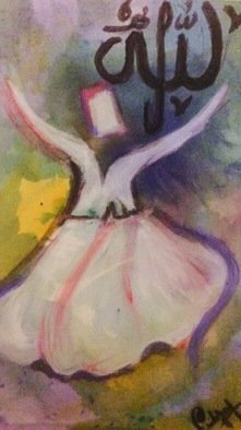 Laraib Yousaf; sufi dance, 2017, Original Painting Acrylic, 11 x 17 inches. Artwork description: 241 rumi...