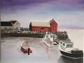 Carl Wilson; Wharf, 2018, Original Painting Acrylic, 11 x 14 inches. Artwork description: 241 Painting of sunset at the wharf. ...