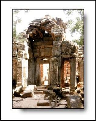 Larry Kiesel; Quiet Arches, 2005, Original Photography Color, 11 x 14 inches. Artwork description: 241 This image was made at one of the temples in the Angkor Wat complex....