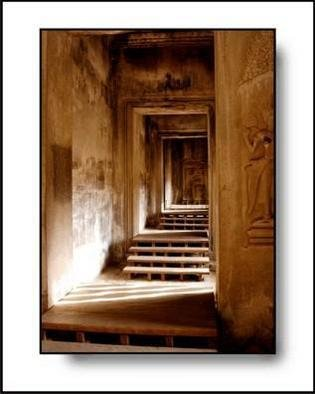 Larry Kiesel; Silent Stairs, 2005, Original Photography Color, 11 x 14 inches. Artwork description: 241 This image was made at the main temple at Angkor Wat in Cambodia...