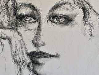 Luise Andersen, 2016 September 24  detail I..., 2016, Original Drawing Charcoal, size_width{2016_ARTDoodle__Reve_I-1472692936.jpg} X 6 inches