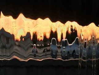 Luise Andersen, '2016 Sunset In Fountains ...', 2016, original Photography Color, 18 x 20  inches. Artwork description: 17355   UNALTERED series aEUR|images captured at sunset time. . through sheaths of falling waters. . evening trafficaEUR|see car lights, traffic lights, colors of vehicles, houses, grasses, trees, and of course waters. . their brilliant facets and abstractness. . bizarre surreal world. . in glowing sunset. .love the experience. . addicted to hues. . forms. . ...