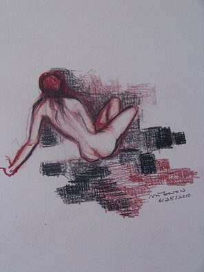 Luise Andersen, Visualizations in graphite ..., 2010, Original Drawing Other, size_width{Art_Doodle_Figure_Nude_I_June_twentysvnTwoOTn-1277697345.jpg} X 12 inches