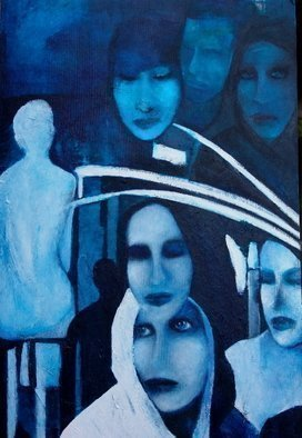 Luise Andersen, From this Create ANEW  I , 2009, Original Painting Acrylic, size_width{BLUE_layer_hues_new_forms_images_OctTwtyfr-1256450857.jpg} X 36 inches