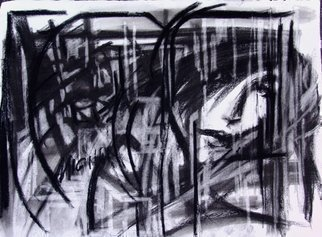 Luise Andersen, 'MIGNON EXTREME  Rain', 2009, original Drawing Charcoal, 30 x 22  inches. Artwork description: 104475  1200 USD. Consider Offer. Do on most of my works. Thank You. Mignon. ...