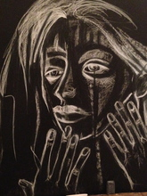 Artist: Luise Andersen's, title: October 8 2014 FEEL IN WHIT..., 2014, Drawing Charcoal