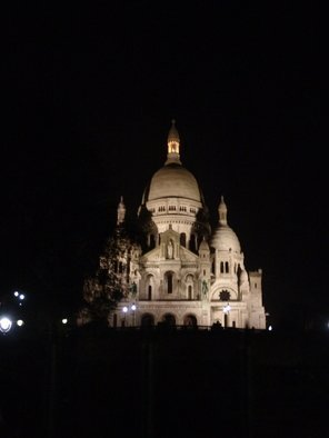 Luise Andersen, UNTITLED I create the feel ..., 2007, Original Photography Other, size_width{Paris_Series__Sacre_Coeur_Like_Beacon_At_Night-1168482370.jpg} X 10 inches