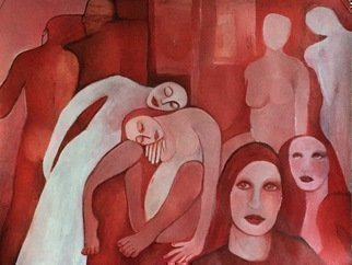 Luise Andersen, REDS Continuance II May 27 ..., 2016, Original Painting Acrylic, size_width{REDS_Continuance_II_May_27_2016_-1464418658.jpg} X 18 inches