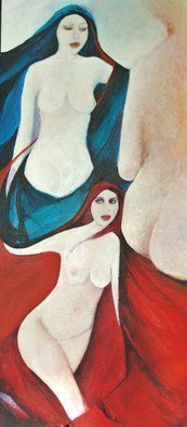 Luise Andersen, ' Worked On Figures Colors...', 2010, original Painting Acrylic, 12 x 30  x 2 inches. Artwork description: 56955  ZOOM IN ON THIS WORK. . . . . so. . layered reds. . blacks. . blues. . created new forms. . worked on sides, so starts looking real clear. . figures I worked on too. . specially on sensual areas. . just layering still until they reach out from canvas at me. . and creative core says. . well. . there ...