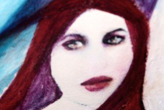 Luise Andersen, 'All I Needed Was You I', 2010, original Digital Art, 13 x 19  x 2 inches. Artwork description: 56955  . . . took close up photo  from visage I painted on latest. . enlarged. . cropped. . left expression of eyes. . important! ! to me. .' alone' . . played creatively with the hues. . just enough. . enhanced areas. . muted some. . and expressed the way I felt. . in this individual digital work. .. . tomorrow, at 10 a. m. ...