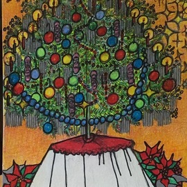 Luise Andersen, , , Original Drawing Other, size_width{artcard_2_christmas_2018-1545622336.jpg} X 12 inches