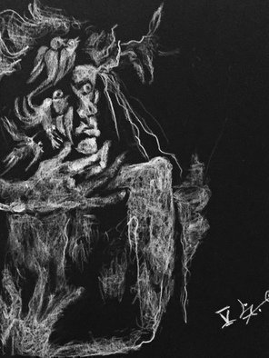 Luise Andersen, 'Dessin Noir V July 3 2017', 2017, original Drawing Charcoal, 9 x 12  inches. Artwork description: 9435 image uploaded July 3,2017- this human I, is deeply emotional by nature. . imagination  fantasy aflame. . eyes notice things . . visagesfigures, creatures, as isomeone might think of fairy tales. . often with sounds. . all different characters. . emotions. happenings . . since very little I recall  was told too. . thing is, I ...