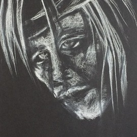 Luise Andersen, , , Original Drawing Charcoal, size_width{detail3_white_on_black-1520538409.jpg} X 14 inches