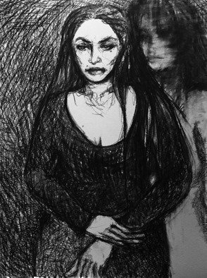 Luise Andersen, Expression ii, 2017, Original Drawing Charcoal, size_width{expression_ii-1487056810.jpg} X 24 inches