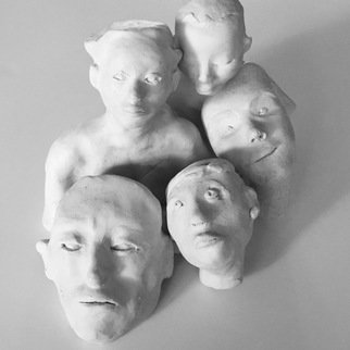 Luise Andersen, 'Feel In Clay Continues', 2017, original Sculpture Clay, 4 x 6  x 3 inches. Artwork description: 13395 February 28, 2017- my being is peaceful, and with light , when I create. I formed additional expressions in clay. also extended others, already created . . deep pleasure in photo session with this these special to me miniatures. . ...