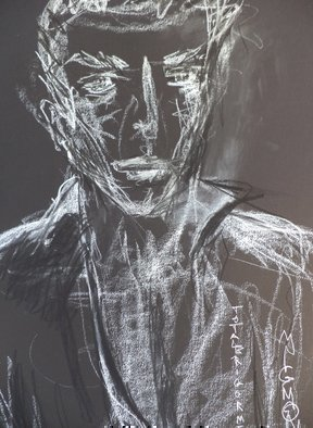 Luise Andersen, 2016 July 12 UNTITLED Large..., 2014, Original Drawing Charcoal, size_width{feeling_in_white_on_black_VII-1402513700.jpg} X 18 inches