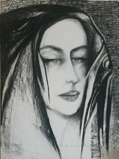 Luise Andersen, 'June 8 Black On White 7', 2019, original Drawing Charcoal, 18 x 24  inches. Artwork description: 2703 . .  slight touches. .  hott today and expect higher temps tomorrow and throughout the coming week.  will see if my energy holds up with fan going. .  if it does, will work more on this image. .  mainly lower area and left side. . ...